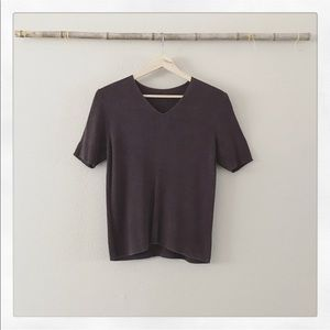 Vintage Brown Ribbed Top